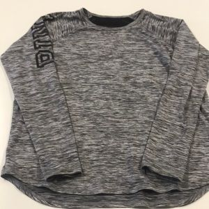PINK VS Women's Medium Gray Long Sleeve Shirt
